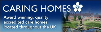 caring homes banner ad